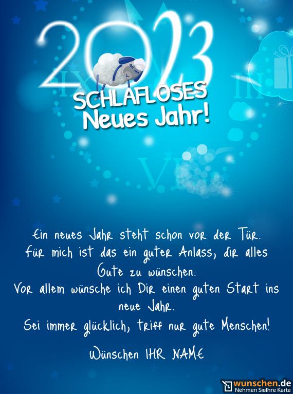 Neujahr mit Lamm - Erschaffen Ihre eigene Neujahrskarte.