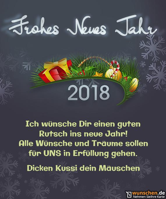 Ich wünsche dir 1 erfolgreiches neues Jahr - Fertig Karte zum Neue Jahr
